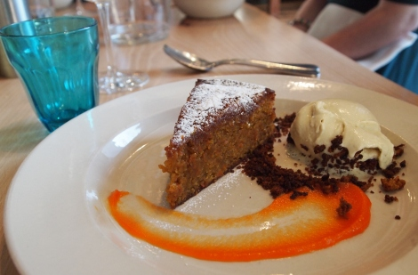 Goji berries & carrot cake, Grain Store, King's Cross, London